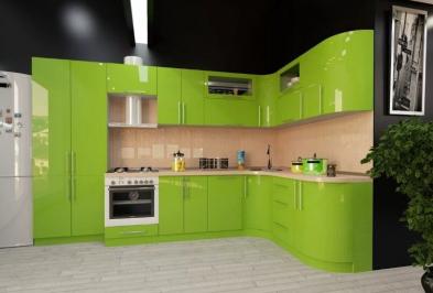 """Кухня """"Зеленое яблоко"""""""